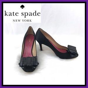 Kate Spade Genie Satin Open-toe Pumps